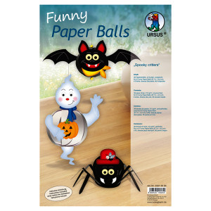 "Funny Paper Balls ""Spooky critters"""