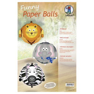"Funny Paper Balls ""Wildtiere"""