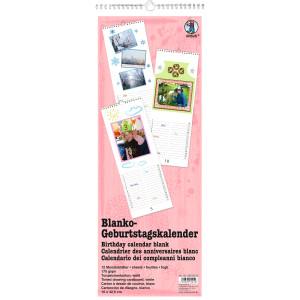 Geburtstagskalender 16 x 42,5 cm weiß