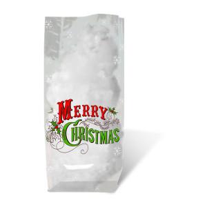 """Geschenk-Bodenbeutel """"Frohe Weihnachten"""" 14,5 x 23,5 cm - 10 Stück"""