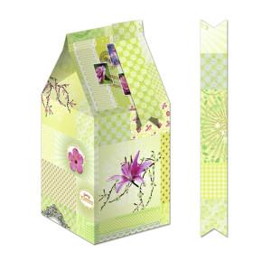 """Geschenkbox """"Bella"""" Patchwork hellgrün"""