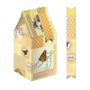 "Geschenkbox ""Bella"" Patchwork orange"
