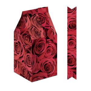 "Geschenkbox ""Bella"" Rosen rot"