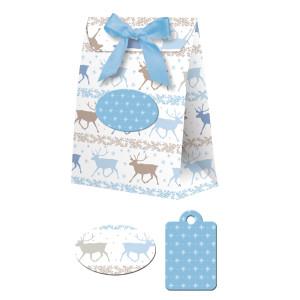 "Geschenkbox ""Celina"" Classic Christmas blau/braun"