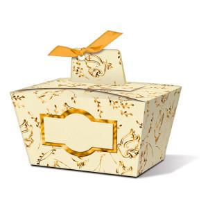 "Geschenkbox ""Joanna"" gold Taube - Motiv 03"