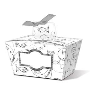 """Geschenkbox """"Joanna"""" silber Fisch - Motiv 04"""