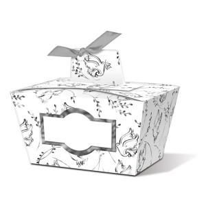 """Geschenkbox """"Joanna"""" silber Taube - Motiv 06"""