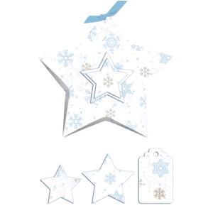 "Geschenkbox ""Stella"" Classic Christmas blau/braun"