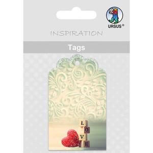 Geschenkeanhänger / Tags Motiv 03 - Holzblöcken LOVE