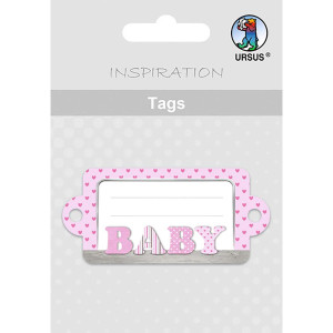Geschenkeanhänger / Tags Motiv 08 - BABY rosa