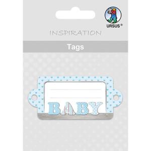Geschenkeanhänger / Tags Motiv 11 - BABY blau