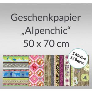 """Geschenkpapier """"Alpenchic"""" - 25 Bogen"""