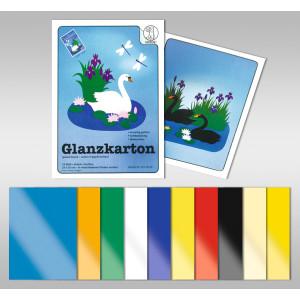 Glanzkarton 250 g/qm DIN A4 - 25 Blatt