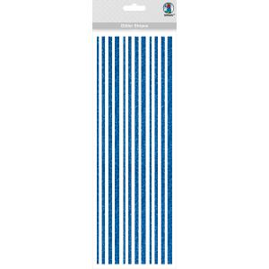 Glitter Stripes dunkelblau, selbstklebend