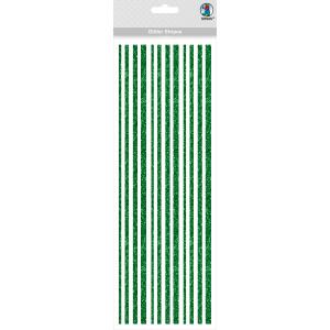 Glitter Stripes dunkelgrün, selbstklebend