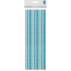 Glitter Stripes hellblau, selbstklebend