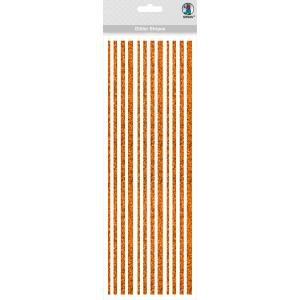 Glitter Stripes kupfer, selbstklebend