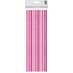 Glitter Stripes lila, selbstklebend