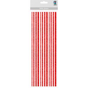 Glitter Stripes rot, selbstklebend
