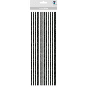 Glitter Stripes schwarz, selbstklebend
