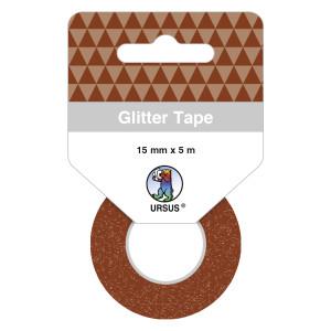 Glitter Tape braun, selbstklebend