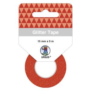 Glitter Tape hellrot, selbstklebend