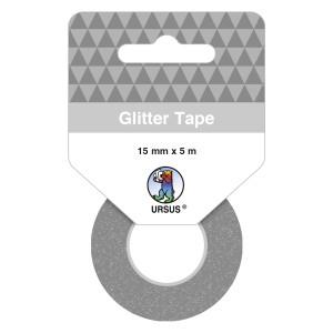 Glitter Tape platin, selbstklebend