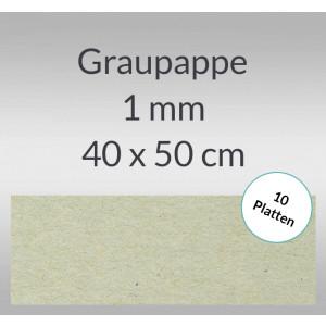 Graupappe 40 x 50 cm - 1 mm