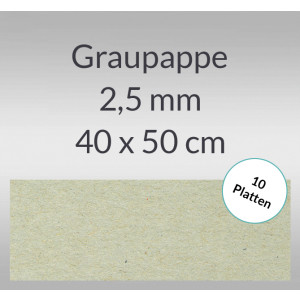 Graupappe 40 x 50 cm - 2,5 mm