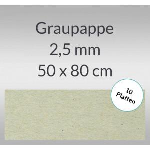 Graupappe 50 x 80 cm - 2,5 mm