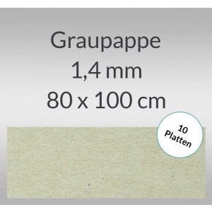 Graupappe 80 x 100 cm - 1,4 mm