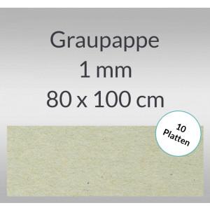 Graupappe 80 x 100 cm - 1 mm