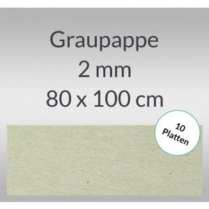 Graupappe 80 x 100 cm - 2 mm
