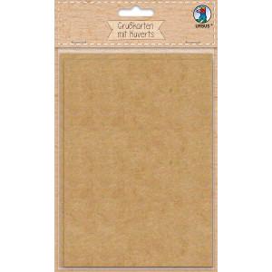 Grußkarten 200 g/m² mit Kuverts 100 g/m² aus Kraftkarton