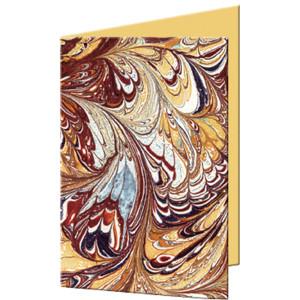 """Grußkarten """"Art"""" mit Kuverts 113 x 165 mm braun"""