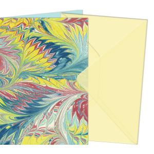 """Grußkarten """"Art"""" mit Kuverts 113 x 165 mm gelb"""
