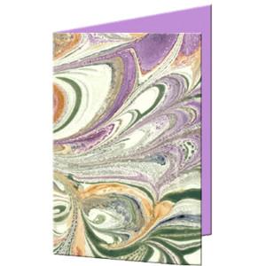 """Grußkarten """"Art"""" mit Kuverts 113 x 165 mm violett"""