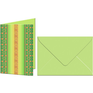 "Grußkarten ""Bordüren"" mit Kuverts 113 x 165 mm grün"