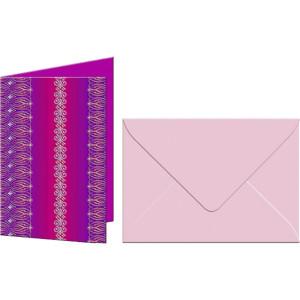 """Grußkarten """"Bordüren"""" mit Kuverts 113 x 165 mm pink"""