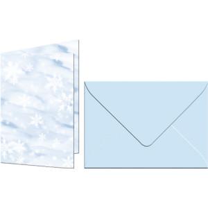 """Grußkarten """"Elemente"""" mit Kuverts Schnee"""