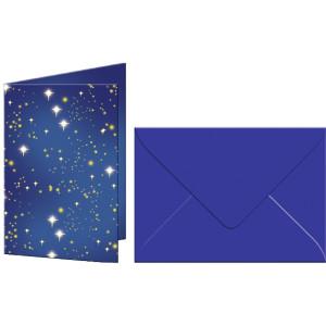"""Grußkarten """"Elemente"""" mit Kuverts Sternenhimmel"""