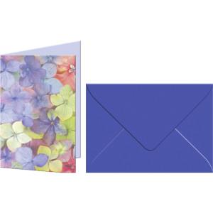 """Grußkarten """"Flora"""" mit Kuverts Hortensie"""
