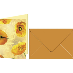 "Grußkarten ""Flora"" mit Kuverts Islandmohn"
