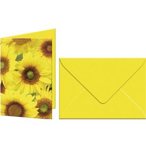 """Grußkarten """"Flora"""" mit Kuverts Sonnenblumen"""