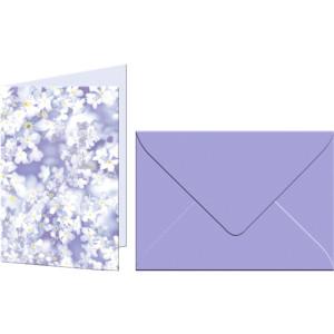 """Grußkarten """"Flora"""" mit Kuverts Vergissmeinnicht"""