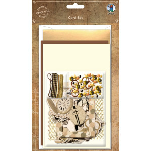 "Grußkarten-Set ""Vintage"" - 3 Karten"