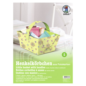 """Henkelkörbchen """"Blütenzauber"""" hellgrün"""