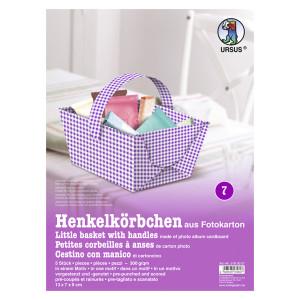 """Henkelkörbchen """"Karo mini"""" flieder"""