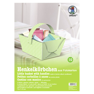 """Henkelkörbchen """"Karo mini"""" grün"""