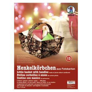 """Henkelkörbchen """"Nüsse/Tannenzapfen"""""""